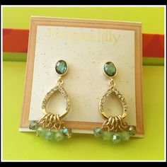 """??Moroccan Rhinestone Dangle Earrings?? ????????????? ??Turquoise glass AB crystals dangle from this matte gold rhinestone pave earrings!   ??Pretty and dainty these post earrings hang 1 1/2"""" down from your ear. NWT and never worn   ??Check out my other listings for UNIQUE accessories!! ???????????? Jewelry Earrings"""