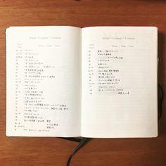 生活の全てを1冊のノートに記録し管理する!私のバレットジャーナルの中身紹介。 - わたしのバレットジャーナル Organization Bullet Journal, Rainbow Loom, How To Make Notes, Bujo, My Life, Notebook, Study, Youtube, Organization