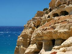 Matala Crete, Corfu, Home And Away, Archaeology, Kos, Beautiful Places, Water, Passion, Travel