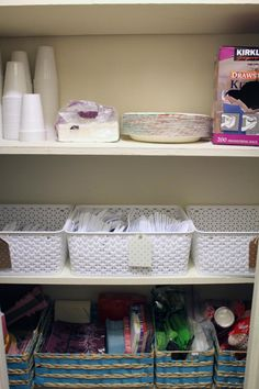 Super easy pantry organization using bins, for those of us who are neat, but not that neat and don't own a Silhouette (cough* holidays coming up *cough)