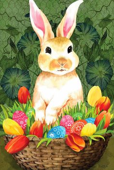 Cute Easter Bunny Decorations Ideas For Your Inspiration 37 Easter Bunny Pictures, Cute Easter Bunny, Easter Art, Easter Crafts For Kids, Happy Easter, Easter Images Clip Art, Ostern Party, Easter Paintings, Easter Wallpaper