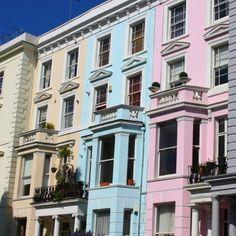 Pretty Pastels in #NottingHill #London #Citybreak #Townhouse #Travel #Instatravel