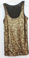 EUC Women's size small EXPRESS Gold Sequin front Tank Top Olive Green Cami Sequin Tank, Olive Green, Cami, Tank Man, Sequins, Fashion Outfits, Metallic Gold, Tank Tops, Shopping