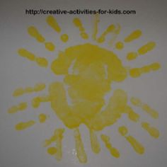 Handprint Sun, February week 3, God made the sun Genesis 1:16