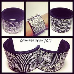 Inked clay!! #iloveit #polymerclay | Celia Herrera | Flickr
