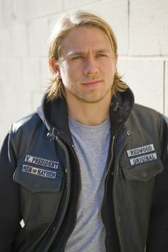 Charlie Hunnam. I can't decide if I like him better with short hair and clean shaven or with the longer hair and the scruff....