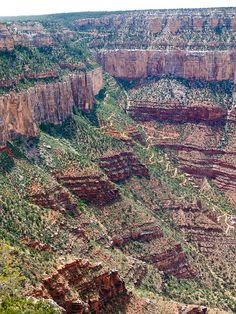 Bright Angel Trail seen from the South Rim in Grand Canyon National Park, Arizona; photo by panafoot, via Flickr