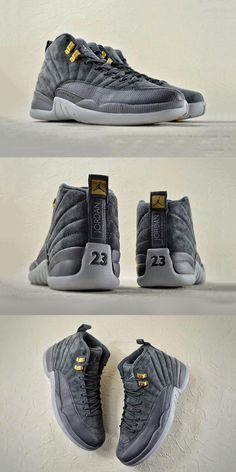 d967b928745 Nike Air Jordan 12 Dark Grey Gray Nike Shoes, Running Shoes Nike, Nike Free