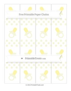Beige Dotted Pattern  Baby Pacifier Paper Chains