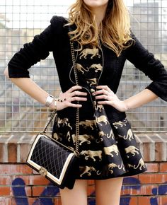 Summer Fashion Trend : Black and Gold