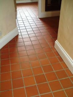 I love the Southwestern look of these quarry tiles in the hallway! Quarry tile is great for your interior or exterior flooring projects!