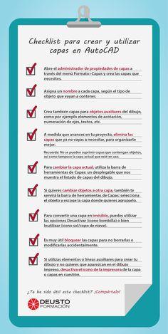 Checklist para crear capas en AutoCAD #tips