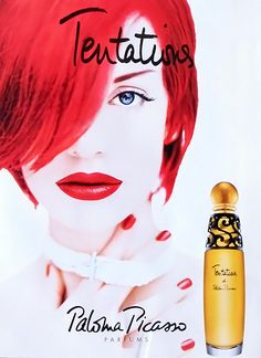 Advert of the fragrance Tentations() by Paloma Picasso