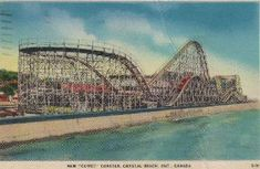 "Crystal Beach ontario | New ""Comet"" coaster, Crystal Beach, Ontario, Canada postcard 