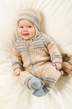 1113 Lanett Baby - Tema 2 - Heldress A, str 0-3 mnd til 18-24 mnd. - Lue B, str 0-3 mnd til 18-24 mnd.