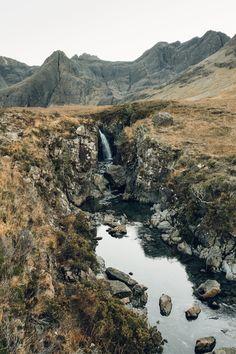 Fairy Pools Glen Brittle — Isle of Skye in Scotland — Haarkon Adventures Skye Scotland, Scotland Travel, Scotland Trip, Fairy Pools Scotland, Island Of Skye, Beautiful Places In The World, Beautiful Scenery, Scottish Islands, Places To See