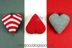 handmadeROOM: háčkované 3D srdce 6cm Diy Crafts, Knitting, Handmade, Accessories, Jewelry, Crochet Hearts, Trivia, 3d, How To Make Crafts