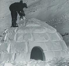 Winter camping shack
