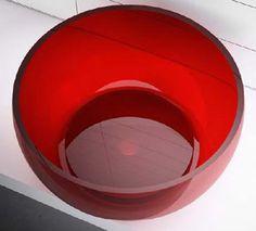 Regia Pouf Glass Basins, in various cokours, 45cm dia X 22cm h
