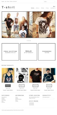 T-shirts Clothes Jigoshop Themes by Hermes