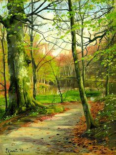 Paisagem , de Peder Mork Monsted, 1896, óleo sobre tela.