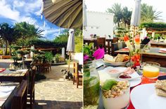 Breakfast in the Ibizazen boutique hotel, Ibiza.