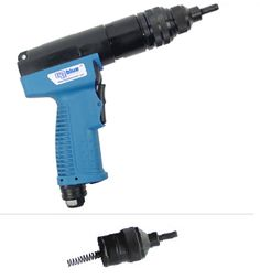 Now with new swiveling air inlet and ergonomic composite handle. BP-600Qc Rivet Nut tool offers the same features as the BP-350Qc. This model operates at 800 rpm for quick installations of smaller rivet nuts. Places 8-32, 10-24, 1/4-20 and M4, M5, and M6 rivet nuts. Recommended operating air pressure is 85-110 psi. Weight 2.8 lbs.