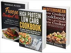 30 Freezer + 20 Mediterranean + 20 High Protein Low Carb Slow Cooker Recipes For Every Kitchen! recipes, slow cooker recipes for two) Low Carb Slow Cooker, Slow Cooker Recipes, Crockpot Recipes, High Protein Low Carb, Low Carb Diet, Low Carb Blog, Slow Cooker Chicken, Cooking Light, Meals For Two