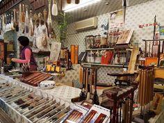 Souvenir store in Jiufen Old Street Taiwan