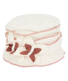 Another great find on #zulily! White Butterfly Wool Cloche #zulilyfinds