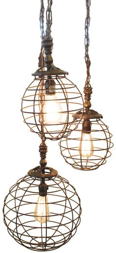 ABChome Wire Globe Pendants