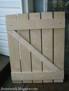 J House Tawk: DIY gate for the mantel
