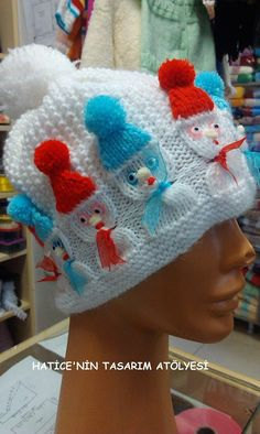 New Knitting Beanie Pattern Children Ideas Knitted Hats Kids, Baby Hats Knitting, Baby Knitting Patterns, Hand Knitting, Crochet Hats, Knitting Machine, Diy Crafts Knitting, Diy Crafts Crochet, Knitting Projects