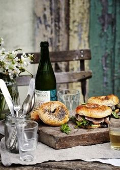 Loaded bagels, Sharyn Cairns for Gourmet Traveller Food Styling, Food Photography Styling, Bagels, Brunch, Delicious Sandwiches, In Vino Veritas, Wine Recipes, Food Inspiration, Love Food