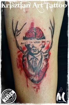 Trash polka tattoo - Krisztian Art Tattoo