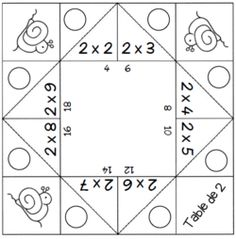 Games - Multiplication tables from 2 to 9 - The school of cr .- Jeux – Les tables de multiplication de 2 à 9 – L ecole de crevette Games – Multiplication tables from 2 to 9 – The Shrimp School - Multiplication Activities, Fun Math Games, Multiplication And Division, Multiplication Tables, Table Addition, Geometry Practice, Math Tables, Math Tutor, Arithmetic