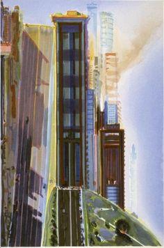 http://poulwebb.blogspot.fr/2010/11/wayne-thiebaud-cityscapes.html