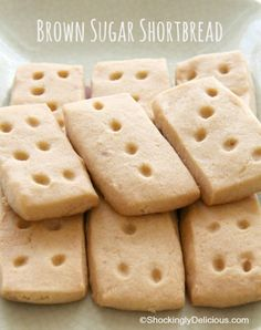 Brown Sugar Shortbread | ShockinglyDelicious.com #cookies #SundaySupper #cheapandeasy #shockinglydelicious #baking #Christmascookies #Kerrygold