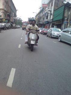 Vespa px in Bangkok, Thailand.