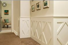 Cool look for wainscoting.