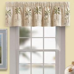 Palm Tree Valance   Ivory   Bed Bath U0026 Beyond