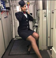 British Airways Cabin Crew, Air Hostess Uniform, Airline Uniforms, Satin Gown, Other Outfits, Cosplay Outfits, Flight Attendant, Skirt Suit, Sexy Legs