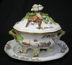 Procleain Tureen | Meissen porcelain Lobster soup tureen
