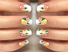Syl and Sam: citrus nails tutorial http://www.sylandsam.com/2012/07/citrus-nails-tutorial.html