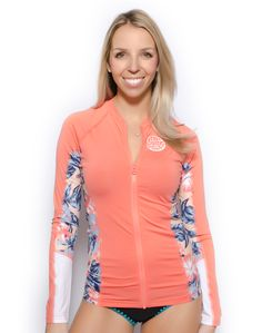 Lauryn Higgins Swimco: Women's Wetty Long Sleeve Full Zip Rashguard