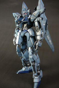 MG 1/100 Delta Plus w/LEDs. Amazing paint job. Modeled by masamasa01