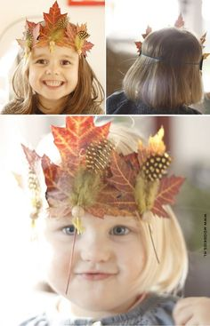 fall leave crown for kids Autumn Crafts, Fall Crafts For Kids, Nature Crafts, Projects For Kids, Diy For Kids, Diy Autumn, Autumn Activities, Toddler Activities, Leaf Crafts