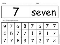 Numbers 0-20 Hide and Seek - Students have to recognize each number 0-20, find it, and color the correct color $