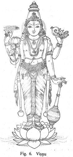 Hindu Mythology (Gods and Goddesses) – Printable coloring pages Mysore Painting, Kerala Mural Painting, Tanjore Painting, Krishna Painting, Krishna Art, Krishna Images, Dark Art Drawings, Outline Drawings, Lord Vishnu Wallpapers