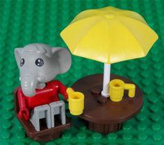 Vintage 1981 Lego Fabuland set no 3601 - ELTON ELEPHANT IN THE GARDEN